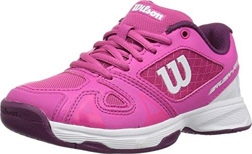 Wilson Kids Girl's Rush Pro 2.5 Jr Tennis (Little Kid/Big Kid) Verry Berry/White/Dark Purple 1 M US Little Kid