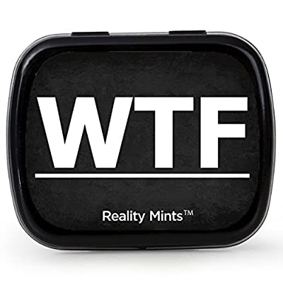 WTF Mints – Cool Gift for Friends Easter Basket for Adult Stocking Stuffers Best Friend Novelty Gifts Wintergreen Breath Mints Funny Office Gifts for Coworkers Weird Gifts WTF Breath Fresheners