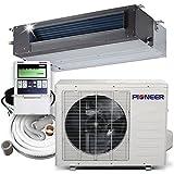 Pioner Ceiling Concealed Recessed Split Ducted Inverter+ Heat Pump System Set, 18000 BTU