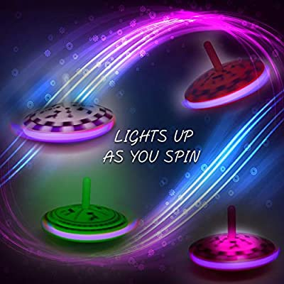 Aviv Judaica Spinning Flashing Dreidel 4 Pack: Toys & Games