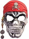 Capitán Pirata Calavera máscara para la cara