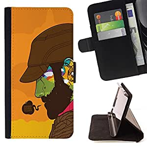 For Samsung Galaxy A3 Doing Good Colorful Face Beautiful Print Wallet Leather Case Cover With Credit Card Slots And Stand Function