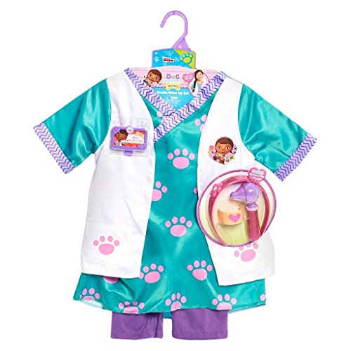 Just Play Disney Junior Doc McStuffins Pet Vet Scrubs Dress Up Set Size 4-6x with Accessories - Doc Mcstuffin Dress Up Set