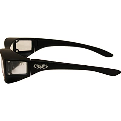 Yellow Tint Full Throttle Motorcycle Wrap Around Safety Glasses Various Lens Colors Basic Lens Color