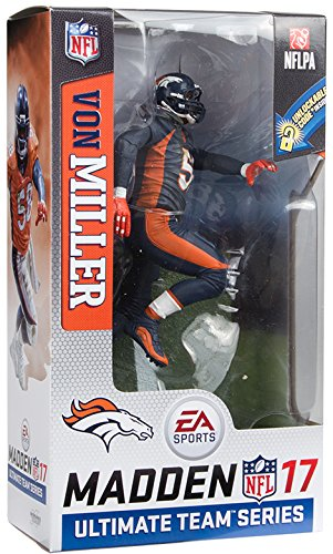 McFarlane Von Miller NFL Madden 17 Action Figure Denver Broncos Color Rush Uniform
