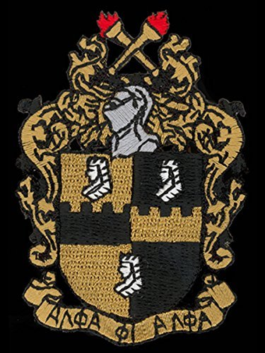 Alpha Phi Alpha Shield Fraternity Woven Emblem Patch 6'' Tall