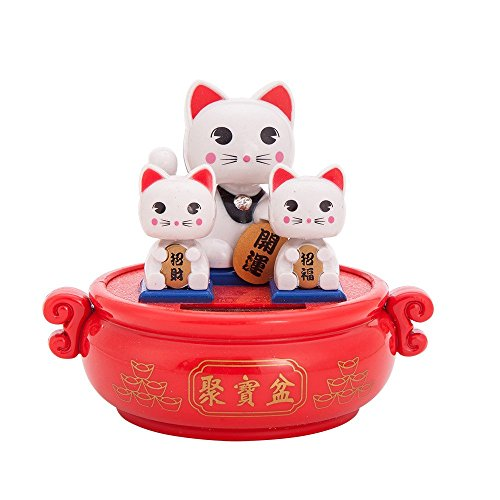 Solar Powered Bobblehead Toy Figure Nohohon, Lucky Cat 071 by THY COLLECTIBLES