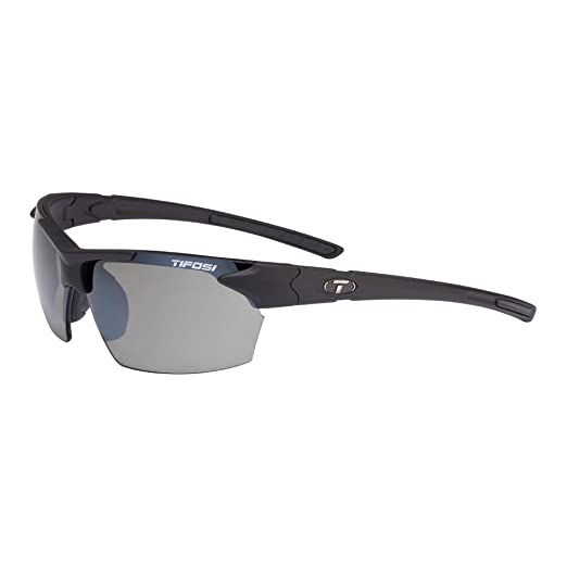 c4358c89e09e Amazon.com : Tifosi Optics Jet Sunglasses Matte Black Smoke POLARIZ ...