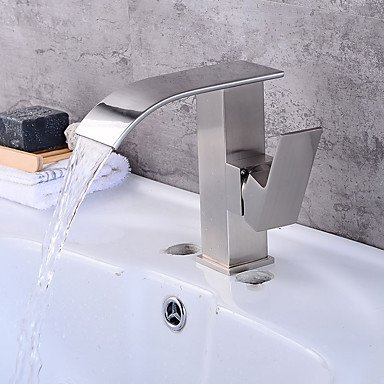 Hzzymj-bathroom Spüle faucetnickel gebürstet BronzeBrass Single Single Single Centerset Mischbatterie Wasserhahn ff0e8b