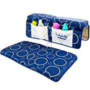 Cushybaby Bath Kneeler and Elbow Rest Pad Set - Thick, Non-Slip, Kneeling Mats Cushion and Protect Arms and Knees So You Can Bathe Your Baby in Comfort! Enjoy Tub Time as Much as Your Kids Do!