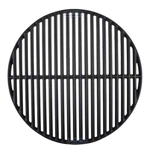 Uniflasy Cast Iron Cooking Grid Grates for Large Big Green Egg/ (L) BGE, Vision Grill VGKSS-CC2, B-11N1A1-Y2A Kamado Charcoal Grill Accessories, 18 3/16 Inches (Green Big Egg Small Grill)
