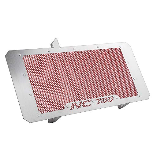 XX eCommerce Motorcycle Motorbike Aluminum Stainless Steel Radiator Guard Grill Cover Oil Cooler Bezel Protector Grille for 2012-2016 12-16 Honda NC700X NC700 DCT 2013 2014 2015 (Red)