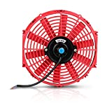 """12"""" High Performance Electric Cooling Fan Push Pull Electric Radiator Slim Fan 12V 80W 1730CFM with Mounting Kit (Diameter 12"""" Depth"""