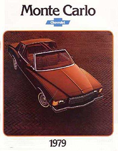 1979 Chevrolet Monte Carlo Sales Brochure Literature Book Options Specification
