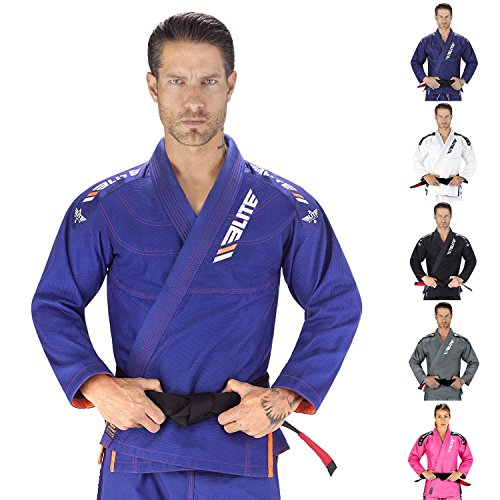 Elite Sports New Item IBJJF Ultra Light BJJ Brazilian Jiu Jitsu Gi With Preshrunk Fabric and Free Belt Blue
