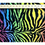 Polar Fleece Fabric Prints Animal Print RAINBOW ZEBRA / 60 Wide / Sold by the Yard FE-N-06 by FABRIC EMPIRE