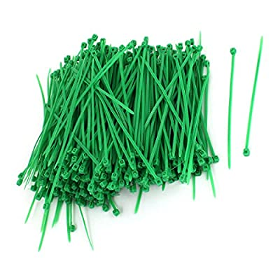 1000pcs 3mm x 100mm Nylon Self-Locking Electric Cable Zip Ties Green