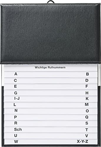 BRUNNEN 106433590 Telefonregister Schuppen (16 x 22 cm) schwarz