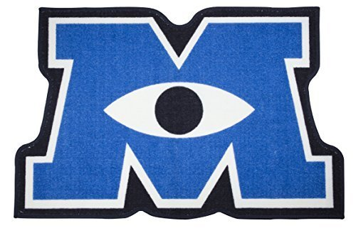 Character World Disney Monsters Inc University Shaped Rug, M