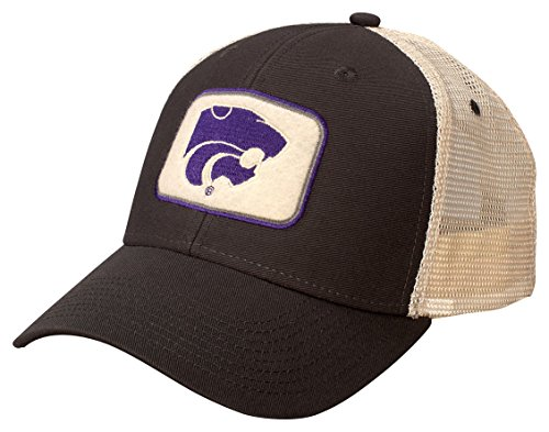 NCAA Kansas State Wildcats Soft Mesh Sideline Cap, Adjustable Size, Dark - Wildcats State Kansas Mesh