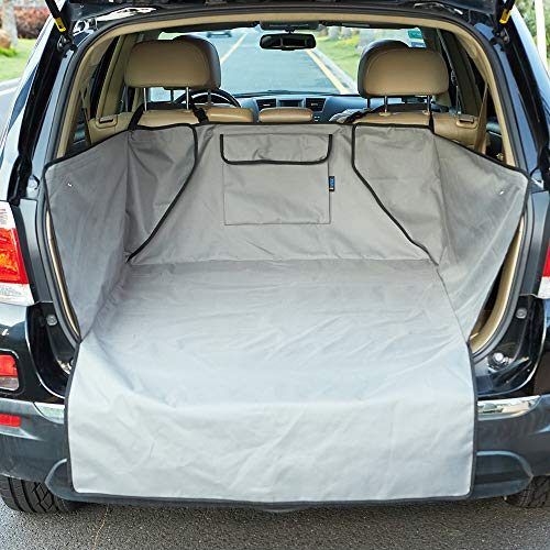 Minivan Cargo Liners - INNX Quilted SUV Dog Cargo Liner, Dog Cargo Cover for SUV, Waterproof to Protect Your SUV, Minivans, Jeeps (Gray, 52