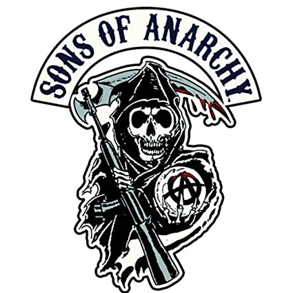 amazon com sons of anarchy reaper logo patch rh amazon com sons of anarchy california logo vector