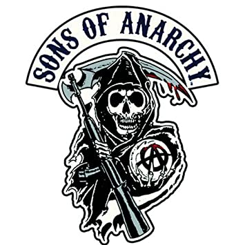 amazon com sons of anarchy reaper logo patch rh amazon com New Sons of Anarchy Logo Sons of Anarchy Patches