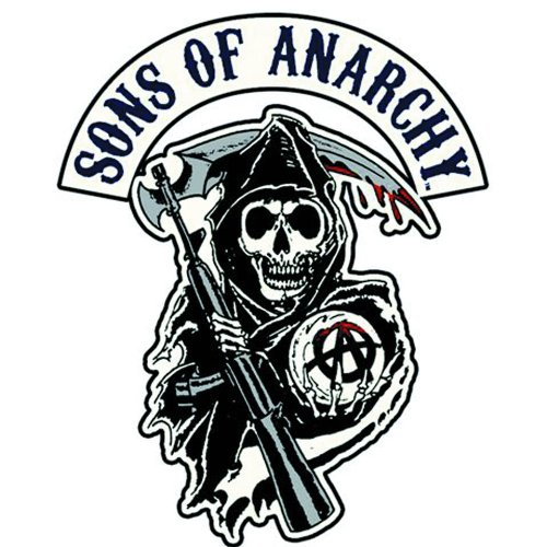 amazon com sons of anarchy reaper logo patch rh amazon com