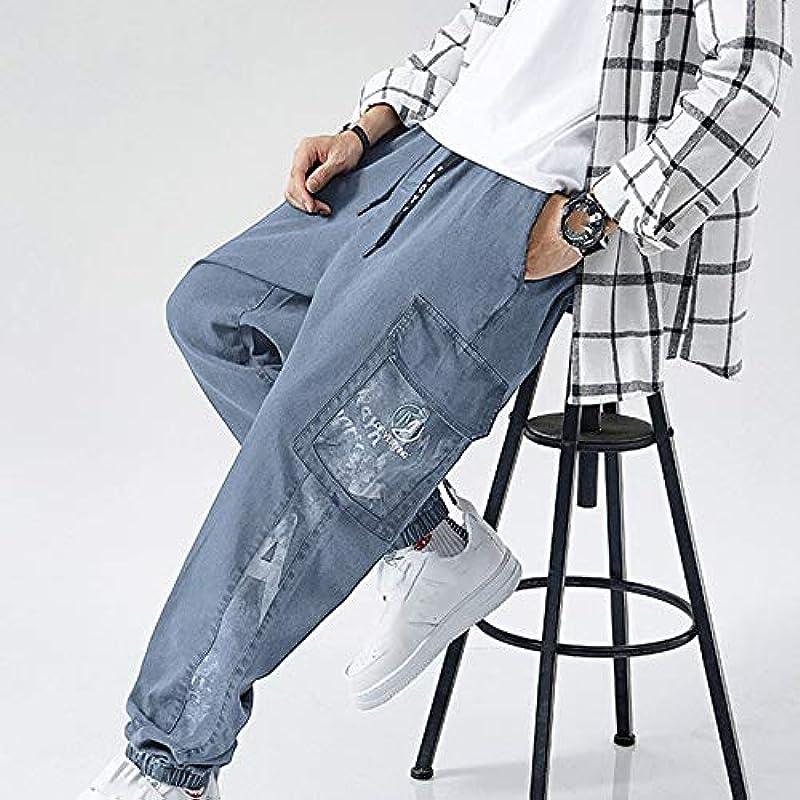 U/A Męskie Herbst Stretch Straight Jeans Loose Casual Pants: Odzież