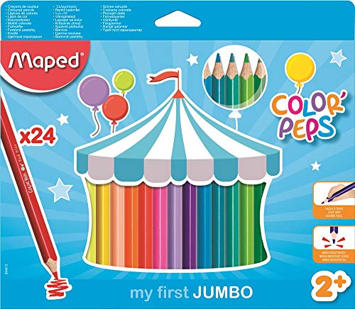 Lápis de Cor Color Peps Jumbo Caixa x 24, Maped, Multicor