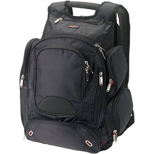 Elleven Proton Checkpoint Friendly 17in Computer Backpack (16.5 x 9 x 19 inches) (Solid Black)