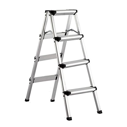 QTQZDD Escalera Plegable Aleación de Aluminio Ultraligero Durable Portátil Plegable Simple, Escalera de 3, 4 escalones de Doble Uso: Amazon.es: Hogar