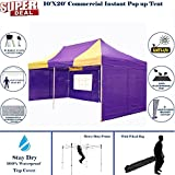 10'x20′ Pop up Canopy Wedding Party Tent Instant EZ Canopy Yellow Purple – F Model Commercial Grade Frame By DELTA Review