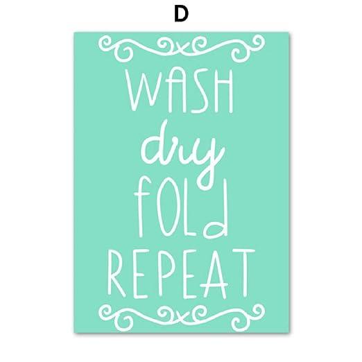 Doblar la pinza de ropa Citas de planchado Arte de la pared ...