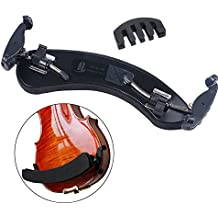 COCODE Violin Shoulder Rest for 4/4 3/4 Sizes - Collapsible,Adjustable Violin Shoulder Pad Fit for Beginners and Professionals with Free Violin Mute - Made of Aluminum Alloy and High-density Sponge