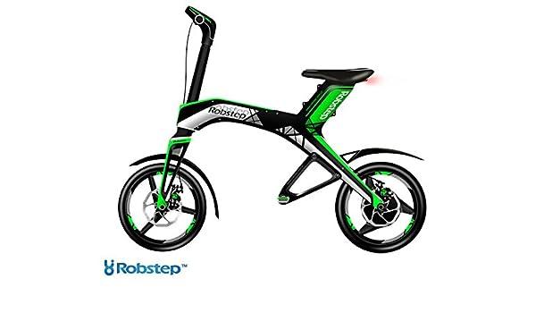 ROBSTEP X1 - Bicicleta eléctrica para scooter (30 km, 25 km/h 4400 Wh), verde: Amazon.es: Deportes y aire libre