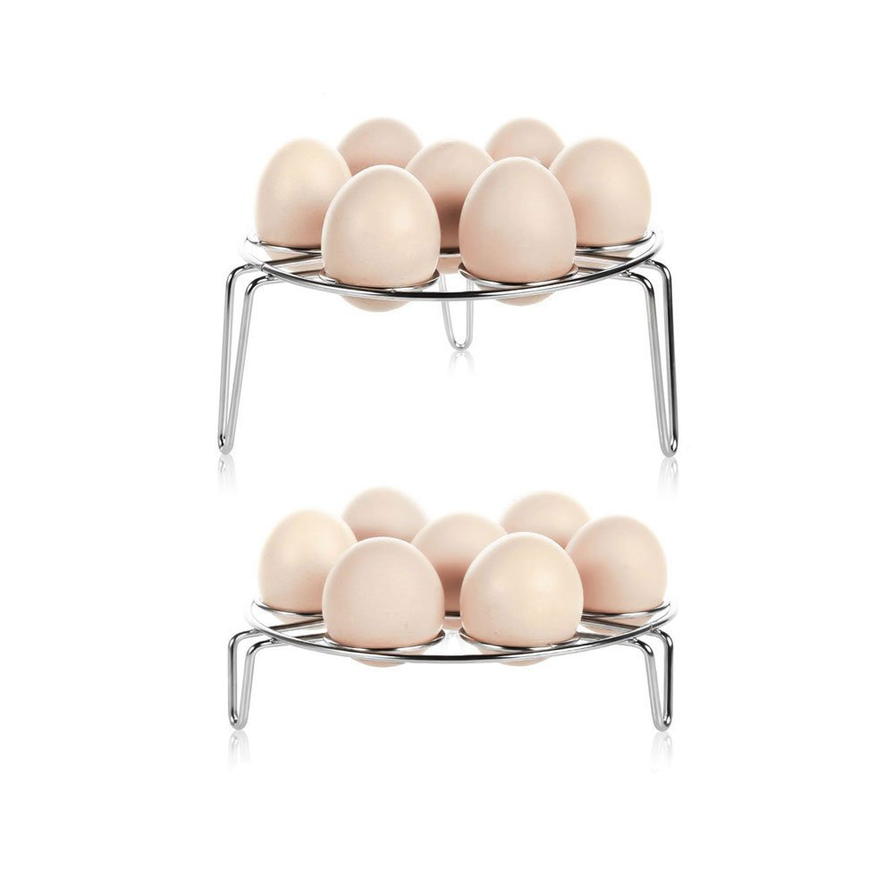Steaming Rack,LADUO 2-Pack Stainless Steel Egg Steamer Rack for Pressure Cooker,Multipurpose Egg Steam Rack Stand Basket Set, Egg Cooker Eggassist