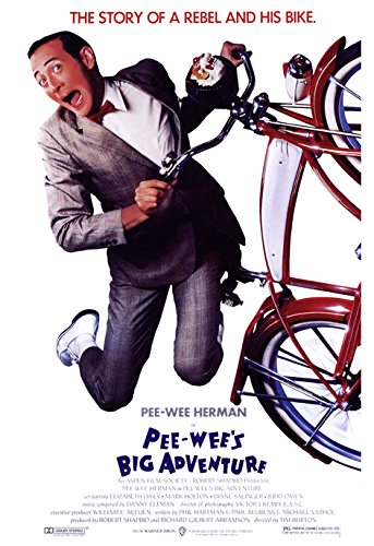 Pee Wee's Big Adventure Poster, Pee Wee Herman, the Story of a Rebel and His Bike