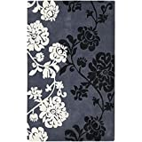 Safavieh Modern Art Collection MDA623A Handmade Elegant Contemporary Floral Dark Grey and Multi Polyester Area Rug (9′ x 12′) Review