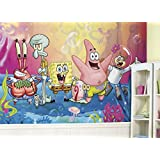 RoomMates JL1411M SpongeBob Squarepants XL Chair Rail Prepasted Mural, 6 x 10.5'