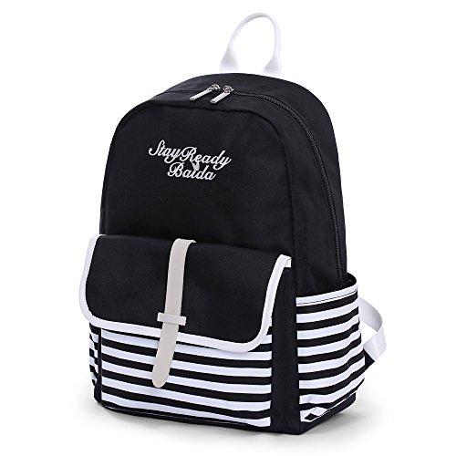 d786c822f054 Backpack Daypack Rucksack Bag for Girls Women Ladies Lightweight Waterproof  Cute Shoulders Bags Casual Backpack(Black) - Buy Online in Oman.