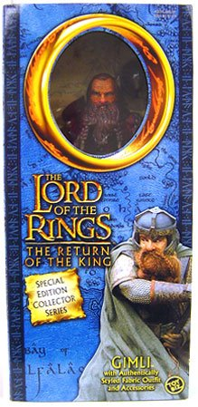 (Lord of the Rings The Return of the King 12 Inch Action Figure Special Edition Collector Series Gimli)