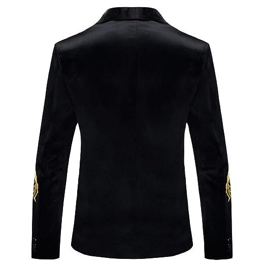 Amazon.com: Blazer para hombre con lentejuelas bordadas ...