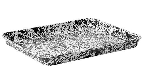 CGS Enamelware Jelly Roll Tray - Black Marble