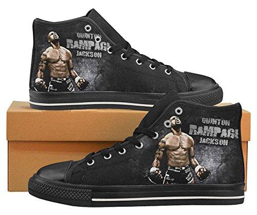 Homme Haut Chaussures Avec Logo Ufc White03