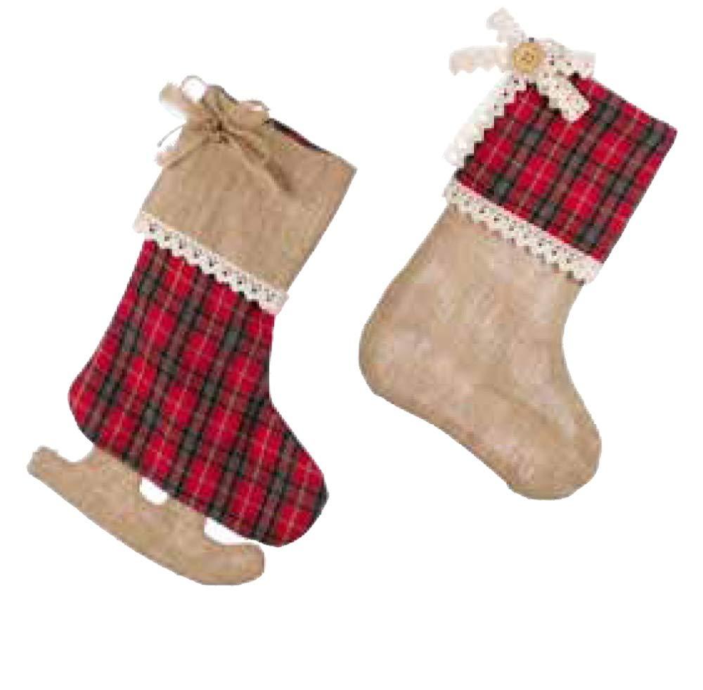 Blanc Mariclo Resinata–Duo di calze di Natale méribel