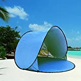 BlackHumor Portable Beach Tent, Baby Sun Shelter Automatic Pop Up Foldable Canopy, Large Windproof Outdoor Family Tent Cabana, with Carry Case & Stakes (2-3persons)