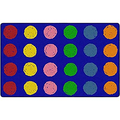 Childcraft Chalk Spots Seating Carpet, 8 x 12 Feet, Rectangle, Primary: Office Products