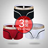 Male Male Underwear Flat Angle trousers down flat angle youth comfortable cotton underwear (3pcs) 4
