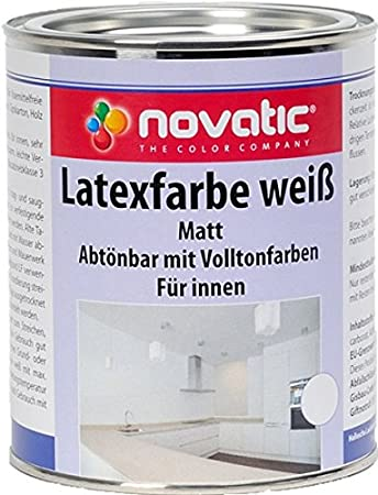 3585000133 novatic Latexfarbe, weiß: Amazon.de: Baumarkt